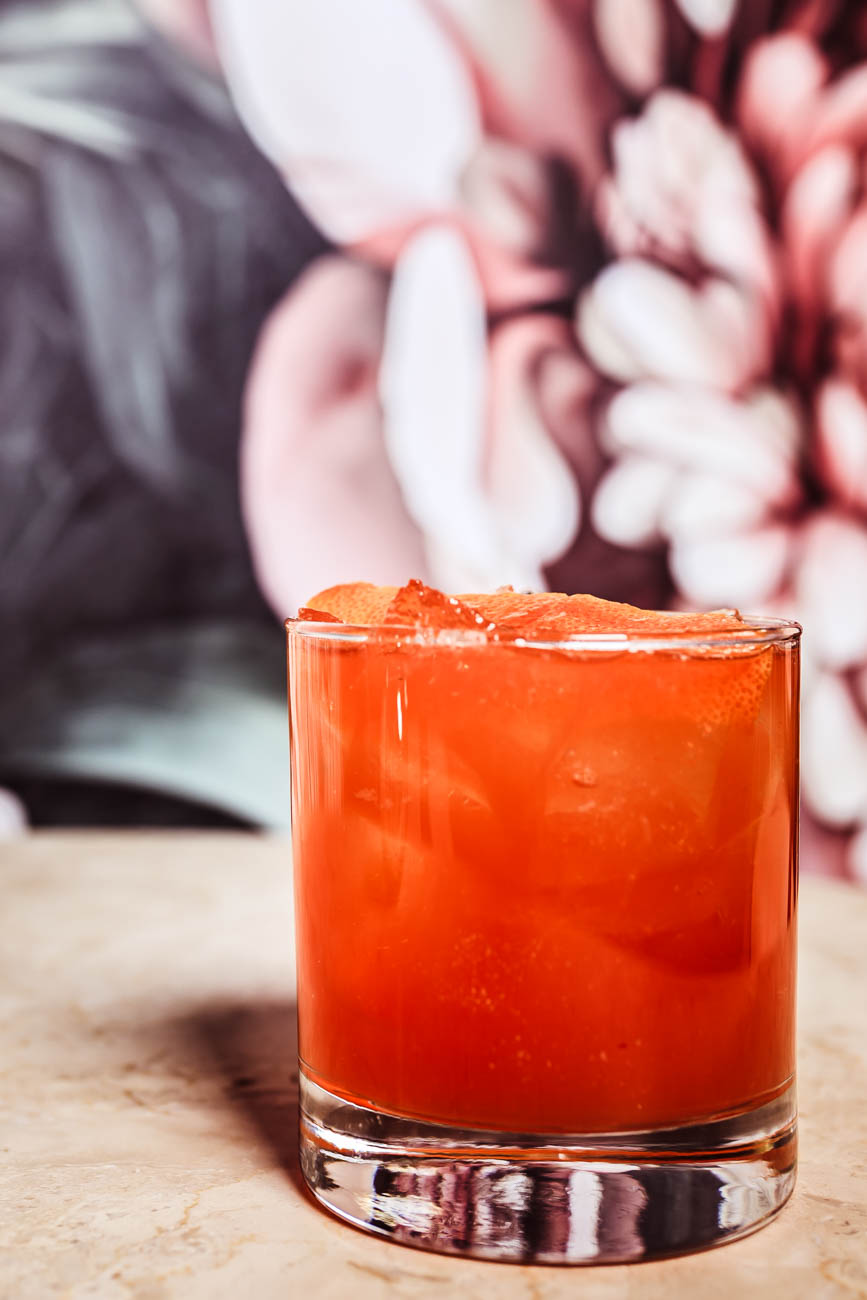 The Three Dots and A Dash: Diplomatico Reserva rum, lime juice, pineapple juice, aromatic bitters, West Indies-style falernum, and honey / Image: Amy Elisabeth Spasoff // Published: 1.18.18<p></p>