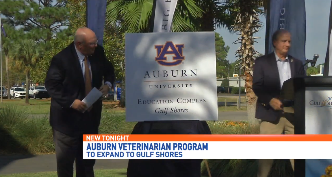 Auburn veterinary program to expand to Gulf Coast