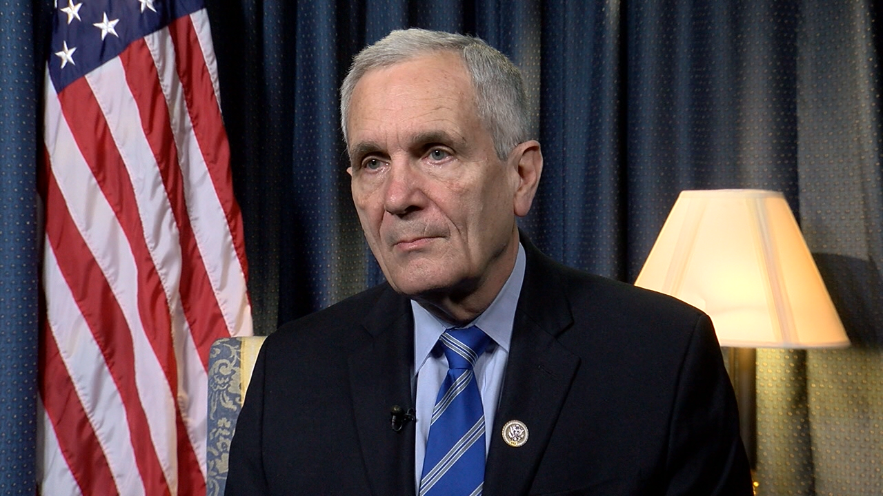 Rep. Lloyd Doggett (D-TX) speaks to WOAI from Capitol Hill on Feb. 1, 2017. (SBG)