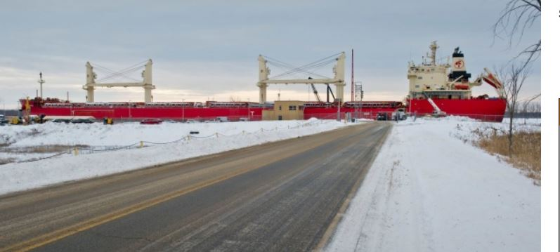 Freighter freed from ice (Provided by St Lawrence Seaway Development)
