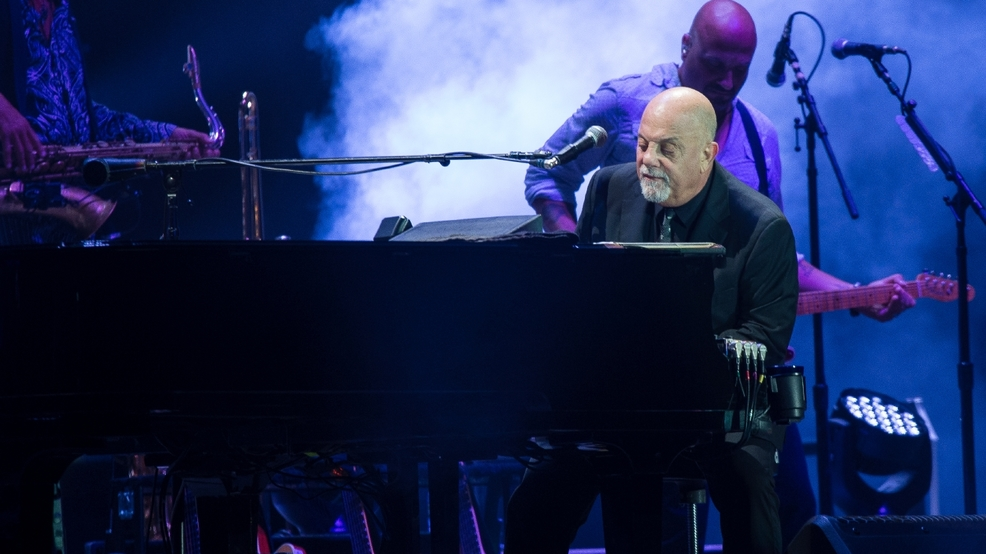 Billy Joel plays Wembley Stadium in London Sept. 10, 2016.