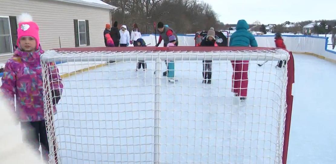 Backyard Ice Skating Rink In Granger Could Spark Legal Battle. // WSBT 22