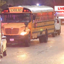 Hit-and-run driver keeps going after slamming into school bus; no children hurt
