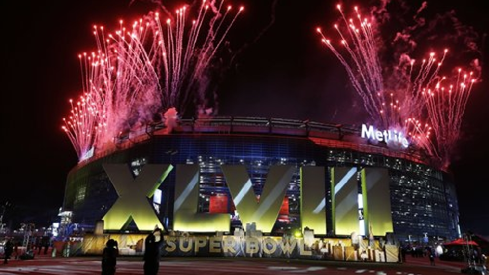 Fireworks burst over MetLife Stadium before the NFL Super Bowl XLVIII football game between the Seattle Seahawks and the Denver Broncos, Sunday, Feb. 2, 2014, in East Rutherford, N.J. (AP Photo/Seth Wenig)