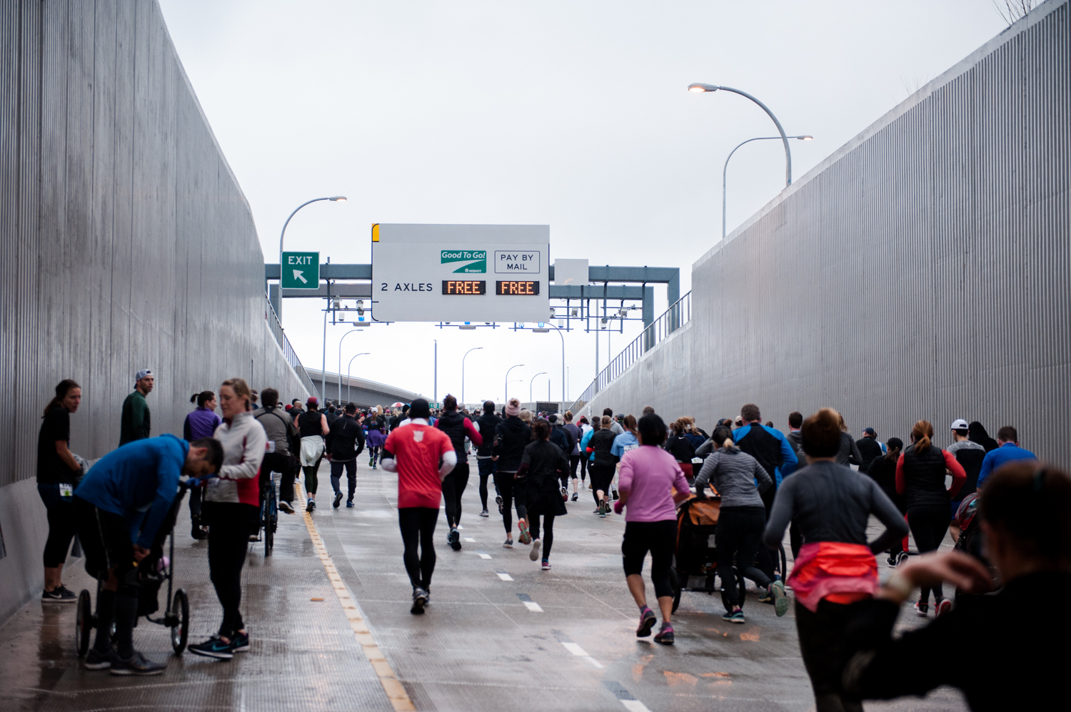 <p>It's here! After weeks of traffic and years of anticipation - over 100,000 are anticipated to come out and celebrate the opening of the SR 99 Tunnel with multiple festivities. First off was the 8K Run/Walk through the tunnel and viaduct, for with 25,000 registered - followed by a ribbon cutting ceremony, art festival and concert. Check out more info at{&nbsp;}www.99stepforward.com to join in the fun! (Image: Elizabeth Crook / Seattle Refined){&nbsp;}</p>