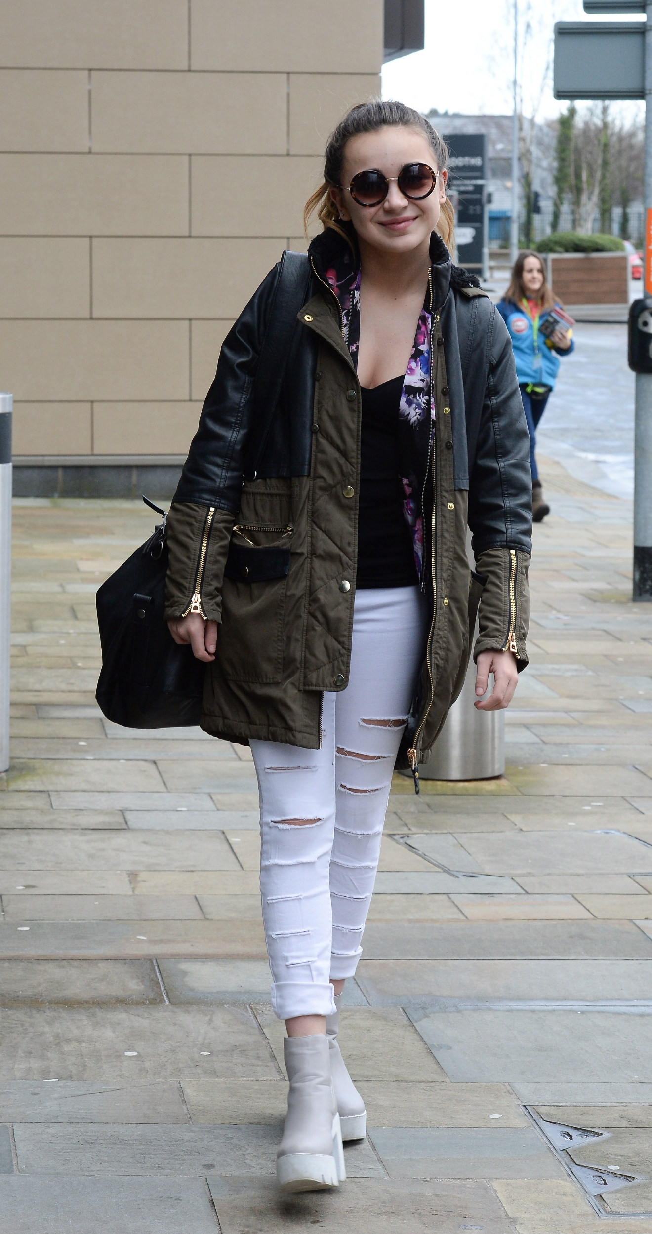 Lauren Platt seen arriving at the BBC Studios Media City, Manchester to present CBBC kids talent show Got What It Takes?  Featuring: Lauren Platt Where: Manchester, United Kingdom When: 05 Mar 2016 Credit: Steve Searle/WENN.com