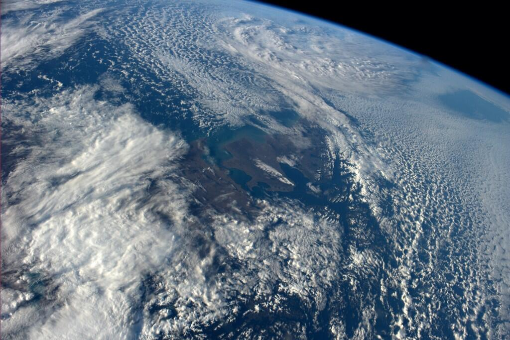 97 - Atlantic entrance to the Straits of Magellan. Prettiest place I?ve ever been (Photo & Caption: Reid Wiseman, NASA)