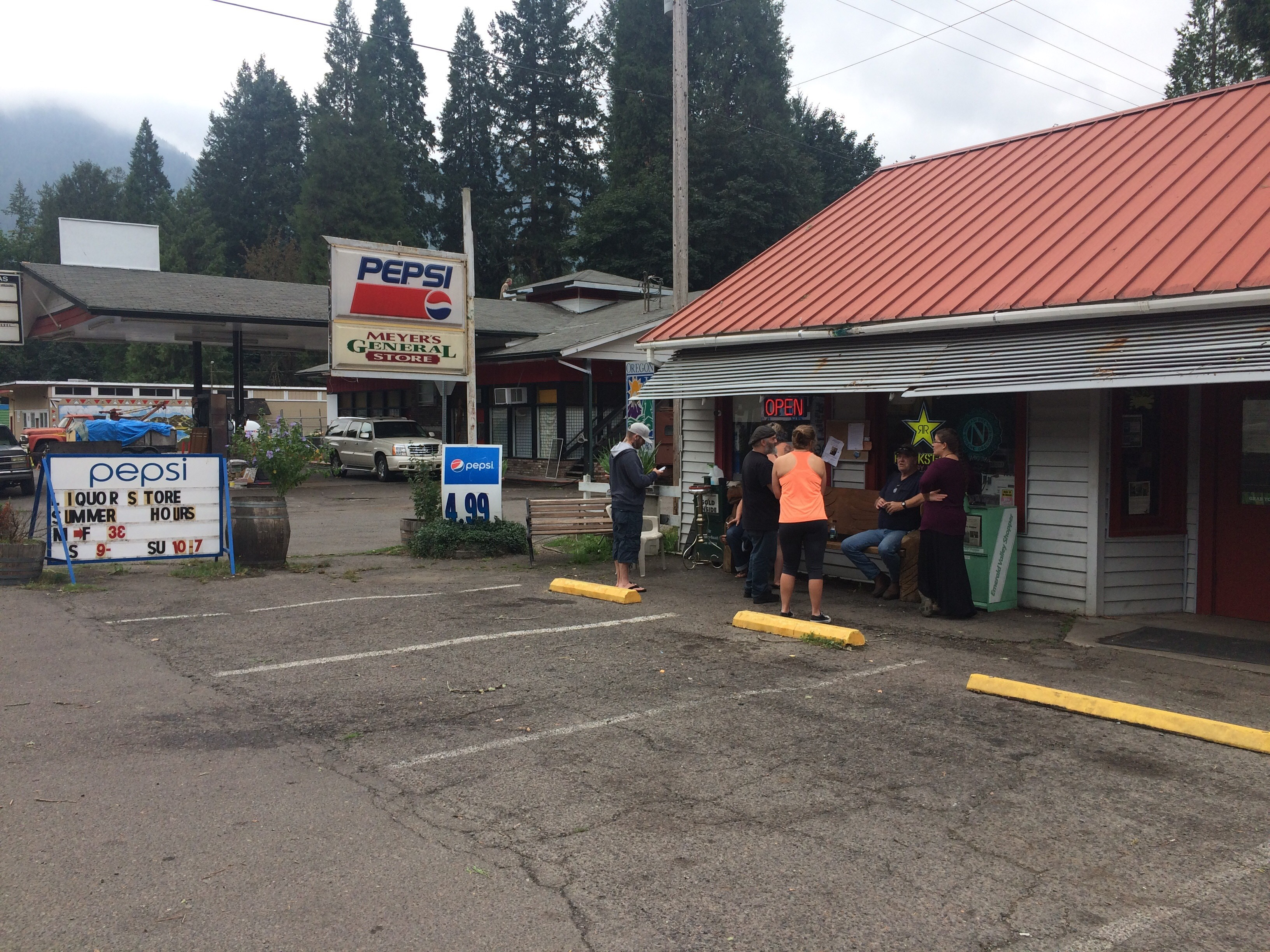 Community members concerned about looting during evacuations on September 8th, 2017 at Blue River Road. in Vida, Ore.