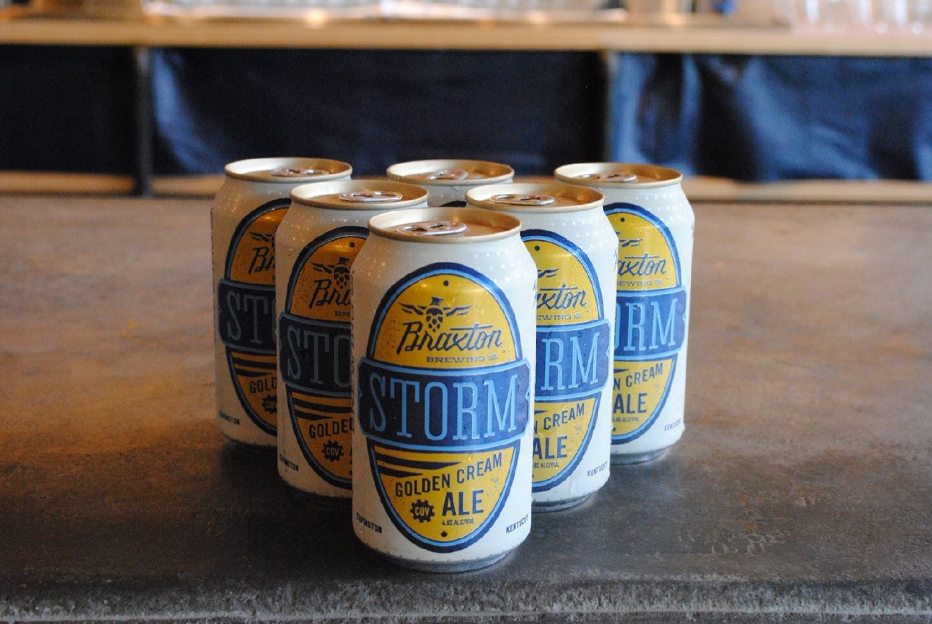 STORM CREAM ALE by Braxton Brewery / It's mild, creamy, and crisp; perfect for a time when you don't want to be punched in the face by flavor. / Image courtesy of Braxton Brewery // Published: 1.10.17