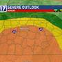 CODE RED: Tornadoes, large hail, damaging winds possible with Monday storms