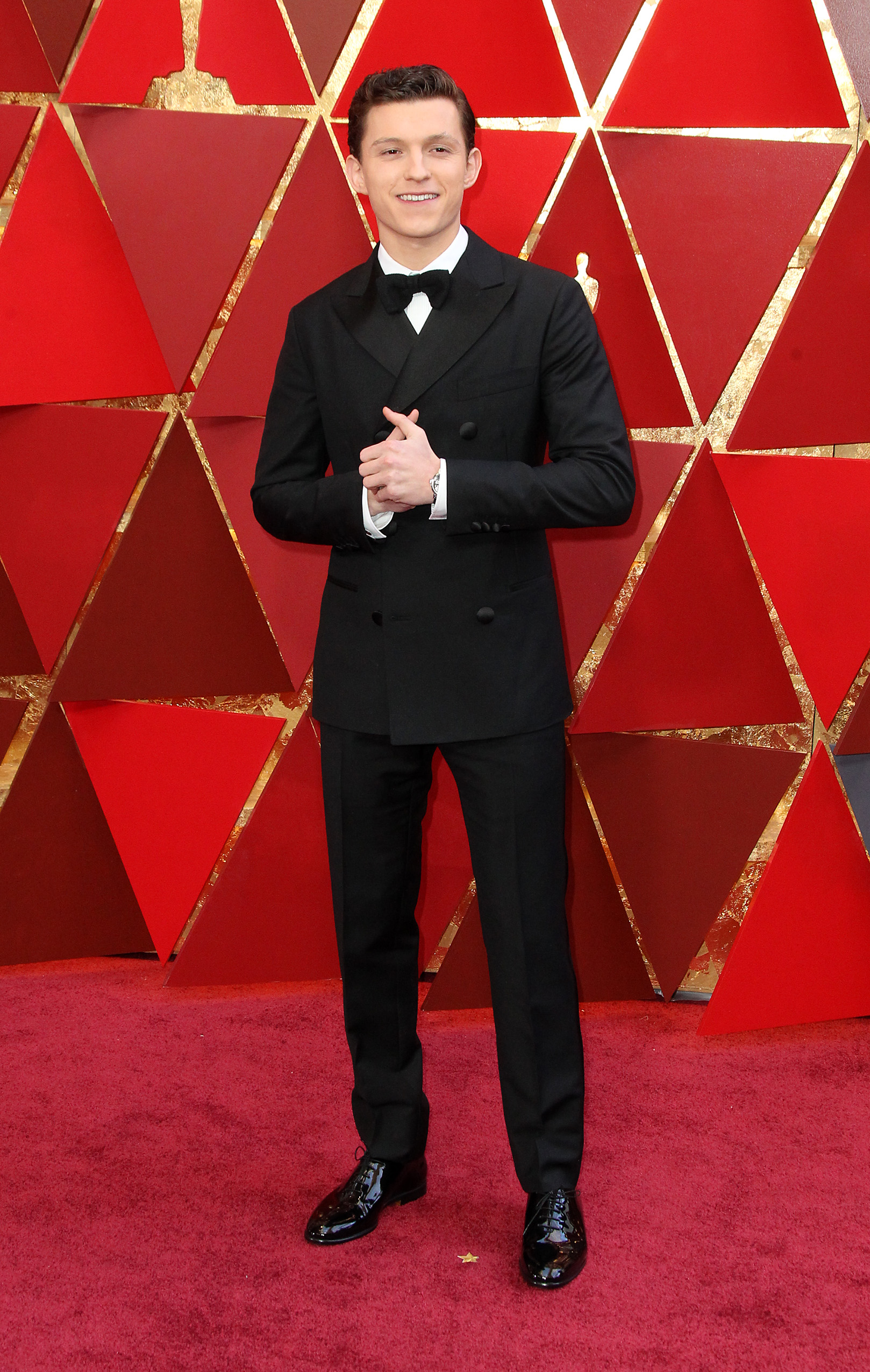 Tom Hollandarrives at the 90th Annual Academy Awards (Oscars) held at the Dolby Theater in Hollywood, California. (Image: Adriana M. Barraza/WENN.com)<p></p>