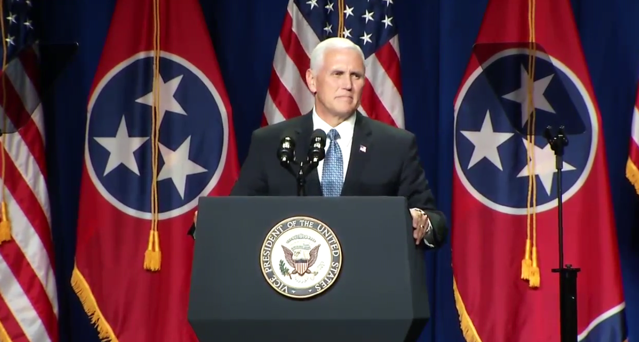 A large crowd gathered inside the Music City Center to hear Vice President Mike Pence speak at the annual Statesmen's Dinner on Thursday, Aug. 3, 2017. (WZTV)