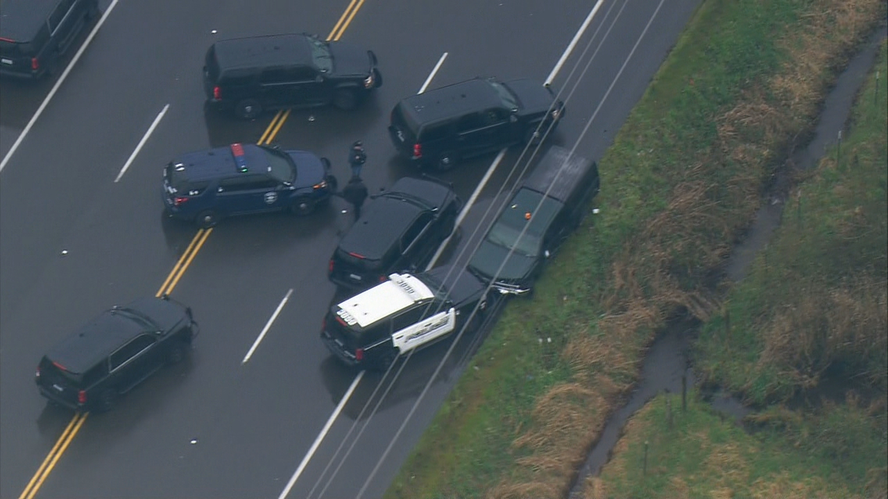 Aftermath where police chase ended on Auburn's S. 277th Street (KOMO Photo / Air 4)