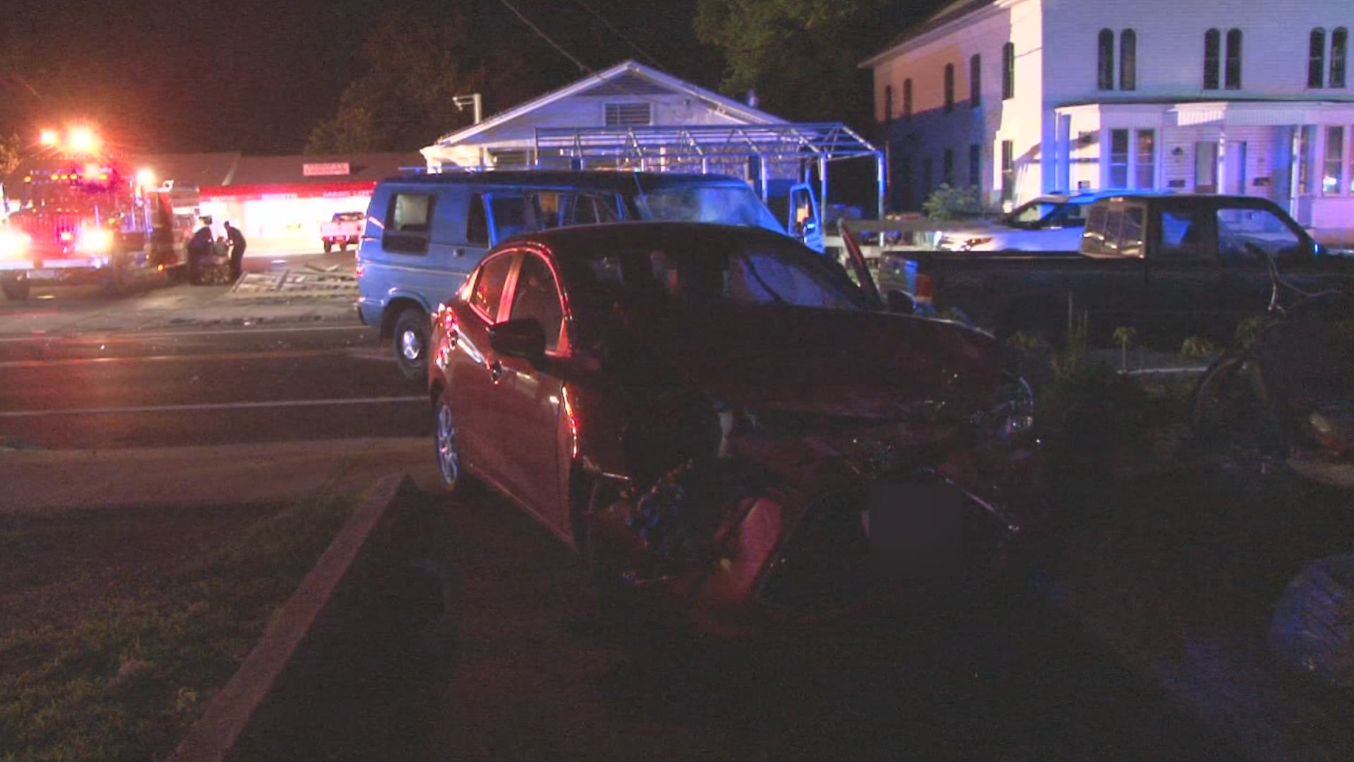 Police responded to a head-on crash on Main Street in Blackstone, Massachusetts, Tuesday, June 20, 2018. (WJAR)