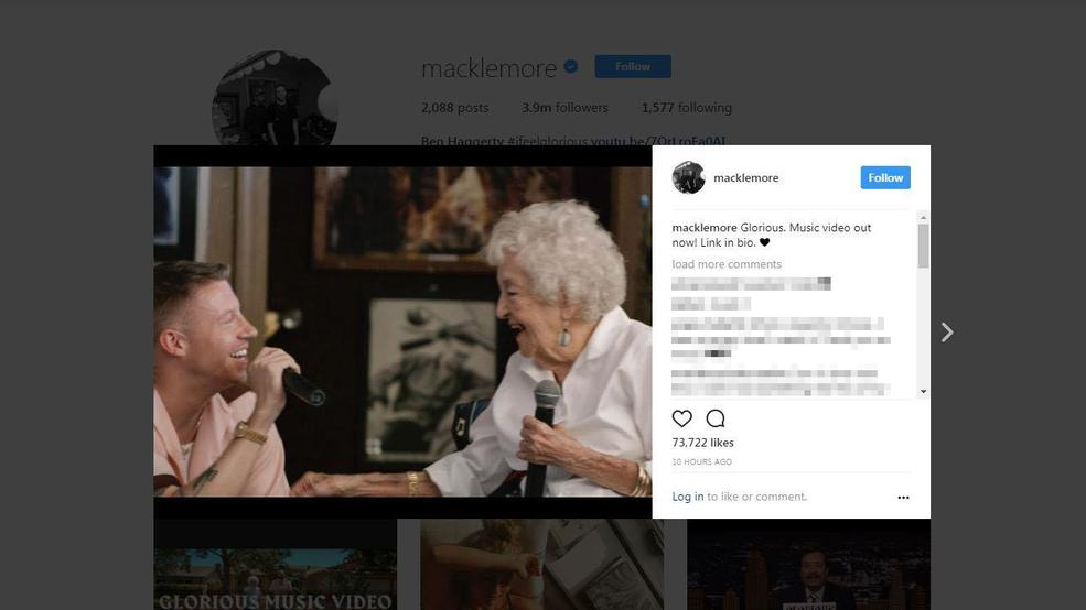 Macklemore's grandmother gets a lap dance for her 100th birthday