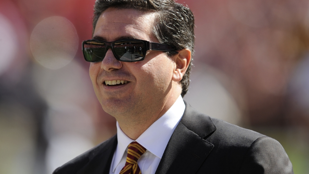 In this Oct. 12, 2008 file photo, Washington Redskins owner Daniel Snyder is seen before a game against the St. Louis Rams game in Landover, Md. (AP Photo/Nick Wass, File)