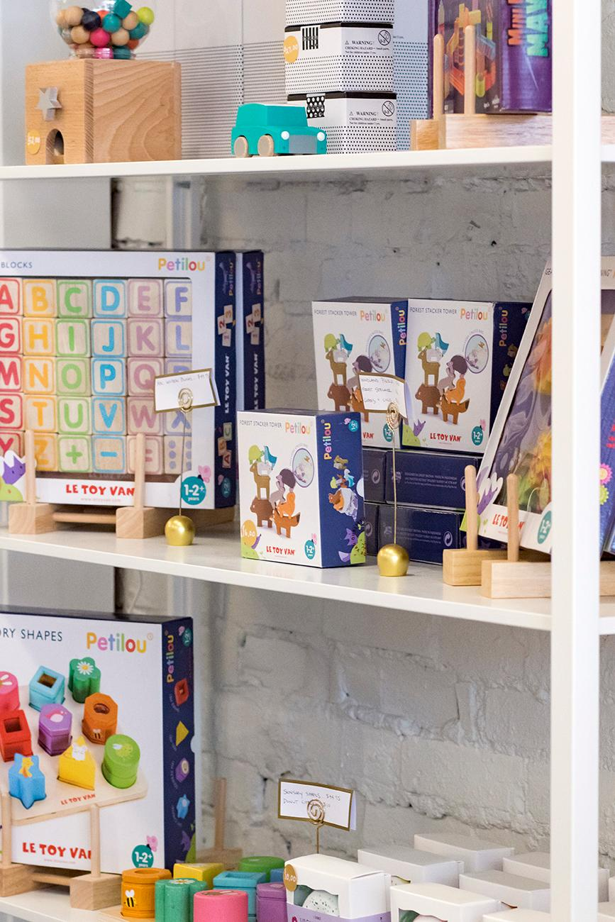 <p>Nancy, a former teacher, was inspired by her grandkids to open the shop that features imaginative and educational toys for kids. / Image: Allison McAdams // Published: 4.6.19</p>