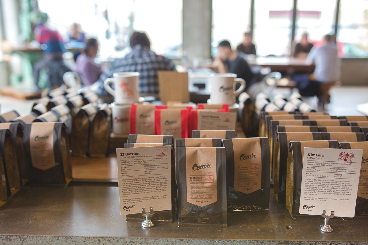 Groovy Coava pulls an excellent house-roasted espresso in its huge, buzzy South East Portland location. (Image: Paola Thomas / Seattle Refined)