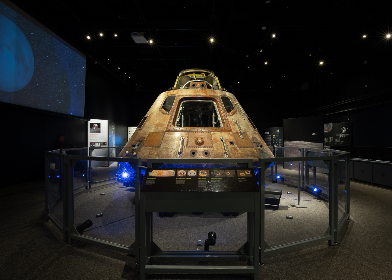 The Apollo 11 command module Columbia is the most notable piece of the collection. This piece of equipment safely housed all three astronauts during takeoff, travel, and reentry, and was recovered from the Pacific Ocean along with Armstrong, Aldrin, and Collins when they returned to Earth. It hasn't left DC since 1976, but is now part of the traveling Destination Moon exhibition. You can see this extraordinary piece of history at the Cincinnati Museum Center until February 17, 2020. / Image: Phil Armstrong, Cincinnati Refined // Published: 10.2.19