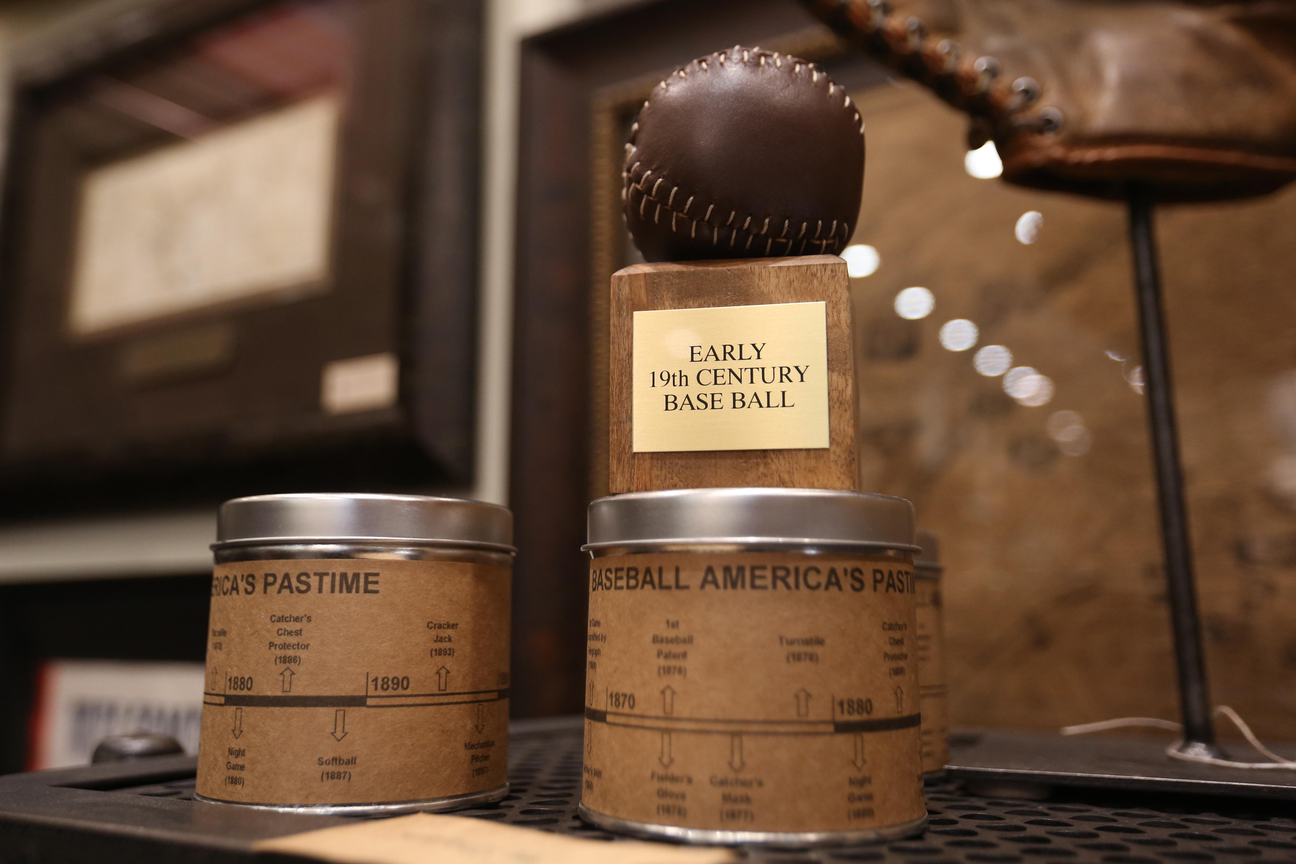 Replica 1850s baseball - $29.50,  available at The Great Republic. (Amanda Andrade-Rhoades/DC Refined)