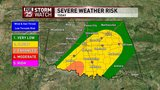 Severe weather possible as cold front moves through Oklahoma