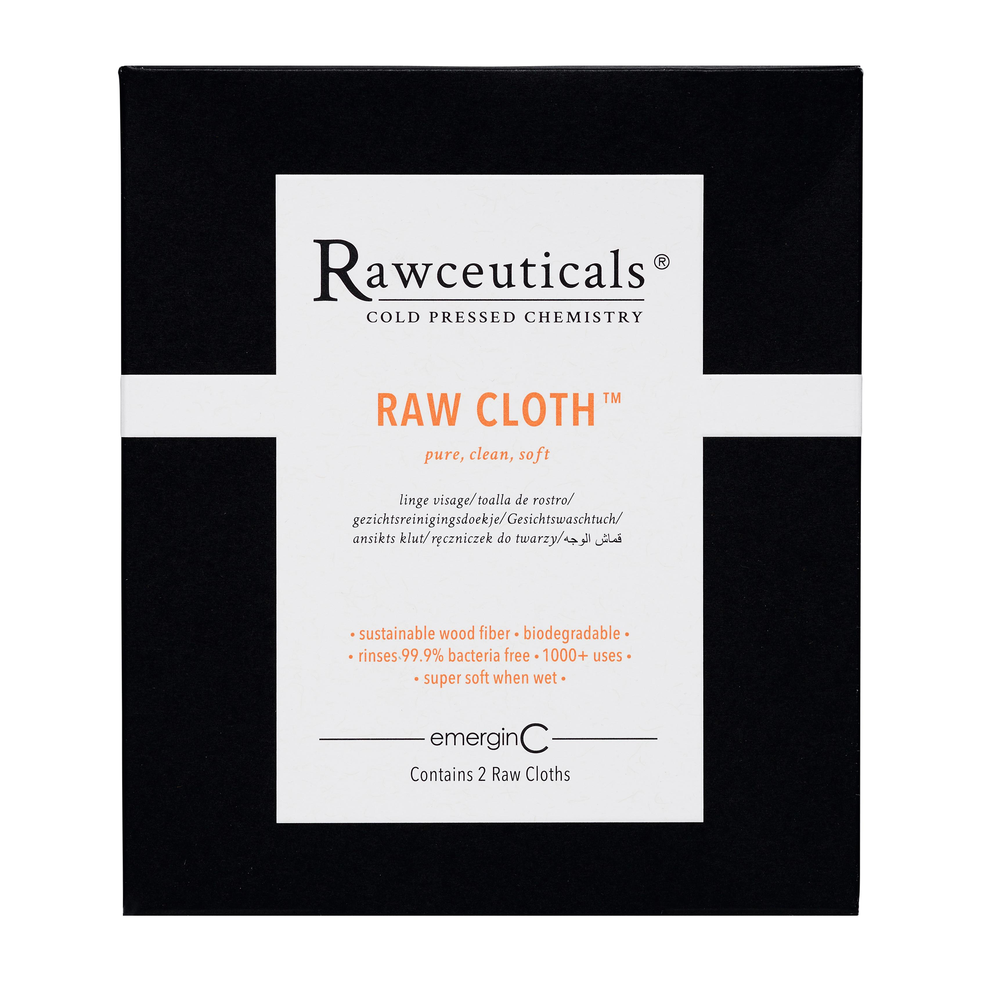 Raw Cloth, a biodegradable face cloth derived from 100 percent wood fibers sourced from sustainably managed forests. (Image: Courtesy Raw Cloth Box)