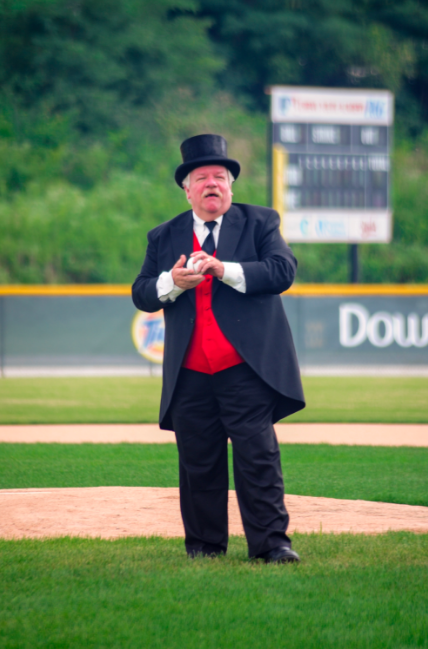 "Peeps: ""President William Howard Taft"" / Event: Cincinnati Red Stockings vs. Cincinnati Buckeyes in a game of vintage baseball at Roselawn Park (8.27.16) / Image: Melissa Doss Sliney"
