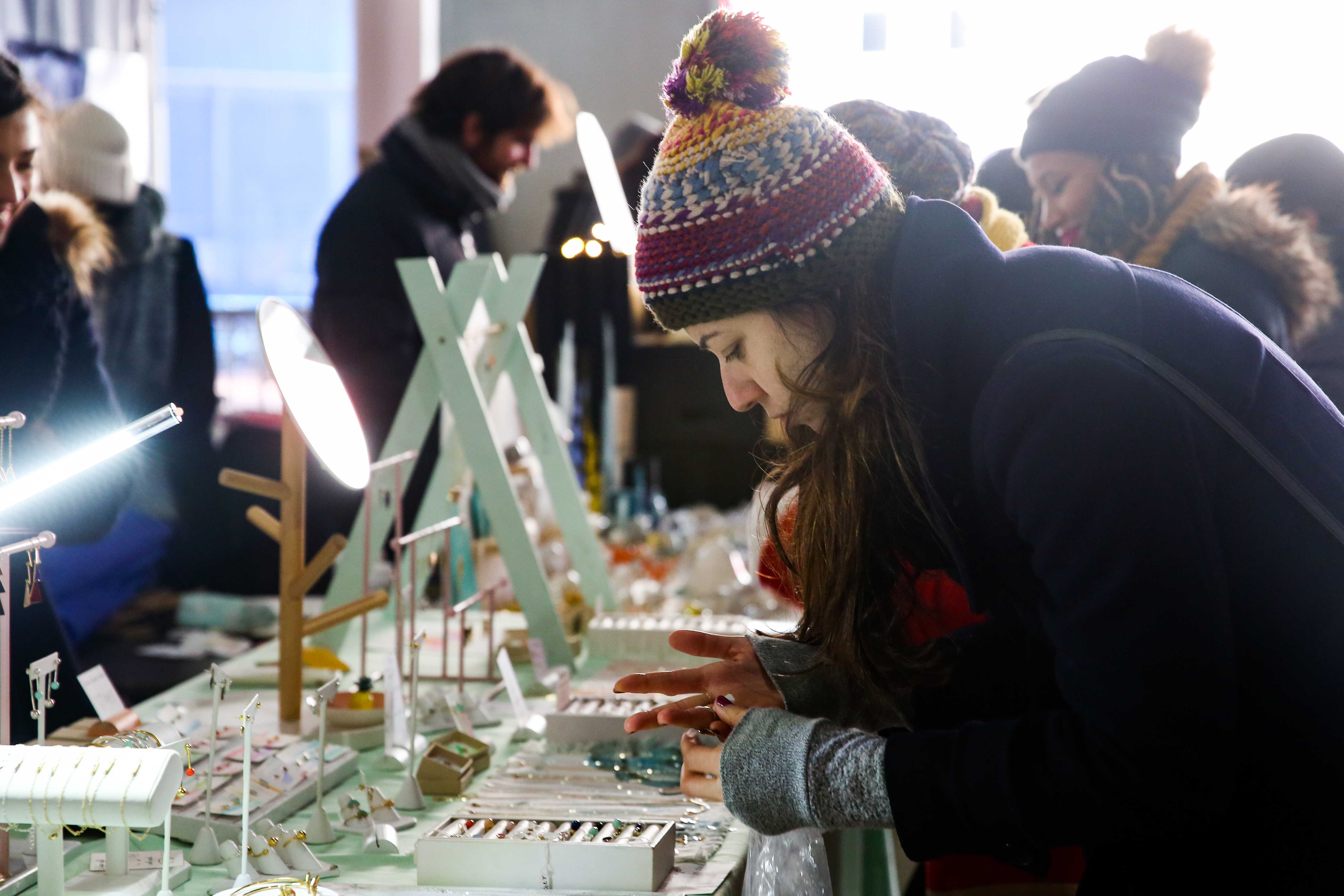 Crafty Bastards, D.C.'s arts and crafts fair, is now in its 14th year and the offerings are cooler than ever. The fair offers artisanal goods like locally-made prints, handcrafted jewelry and small-batch soaps that are perfect for holiday gifts. Or just treating yourself.  The fair runs through 5 p.m. on Sunday at Nats Park. (Amanda Andrade-Rhoades/DC Refined)