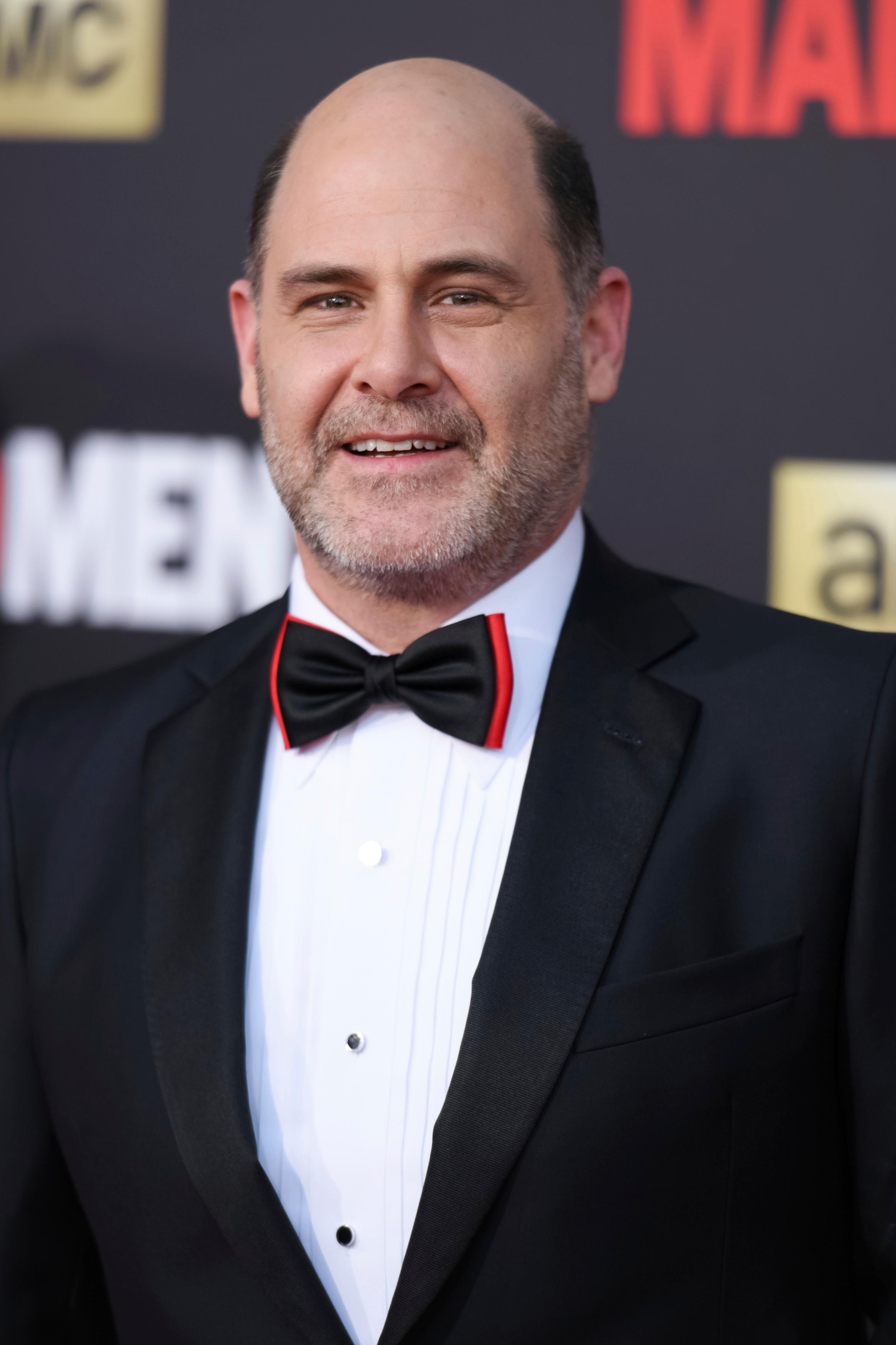 "FILE - In this March 25, 2015 file photo, Matthew Weiner arrives at The Black And Red Ball In Celebration Of The Final Seven Episodes Of ""Mad Men"" in Los Angeles.  (Photo by Richard Shotwell/Invision/AP, File)"