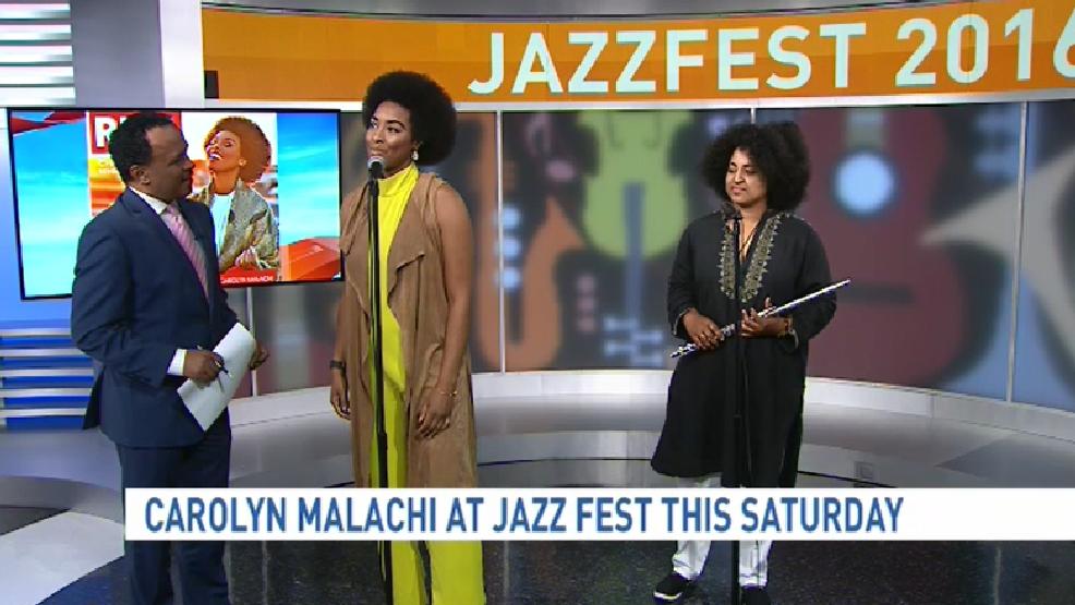 "JazzFest performer Carolyn Malachi sings her single ""Blowing Smoke"""