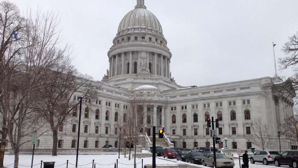 The Wisconsin state Capitol in Madison is seen, Jan. 14, 2014.