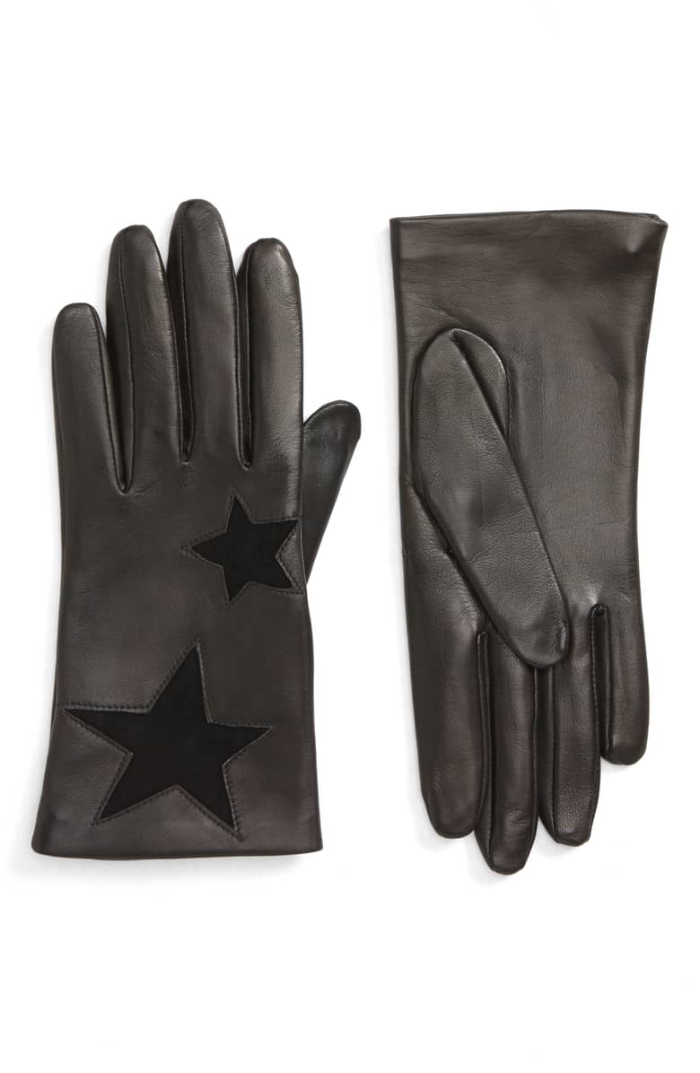 Nordstrom Star Lambskin Leather Gloves, $89.{ }Ballin' on a budget this season? Nordstrom found priceless gifts all under $100. You're welcome! (Image courtesy of Nordstrom).