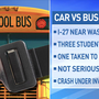 One person is in the hospital after vehicle versus school bus accident