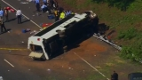 Officials: Child, adult flown to hospital after bus carrying 26 children crashed in Md.