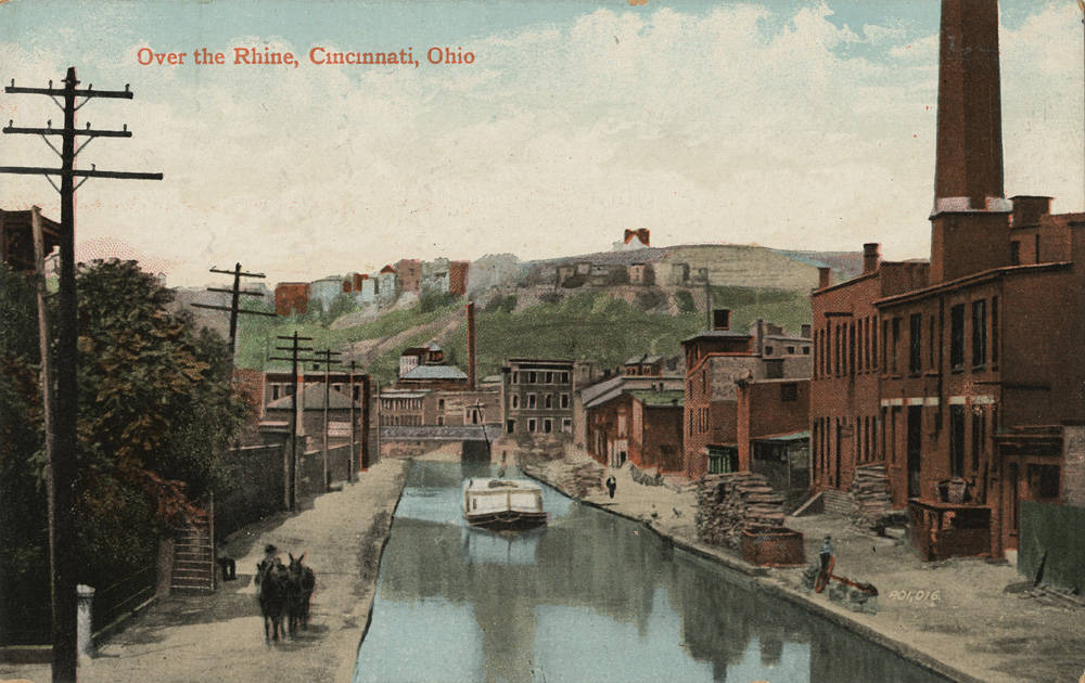 Over the Rhine, Cincinnati, Ohio / DATE: Unknown / COLLECTION: Public Library of Cincinnati and Hamilton County, Clyde N. Bowden postcard collection / Image courtesy of the digital archive of The Public Library of Cincinnati and Hamilton County // Published: 5.3.18