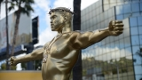 Crucifixion-posed Kanye West sculpture unveiled on Hollywood Boulevard