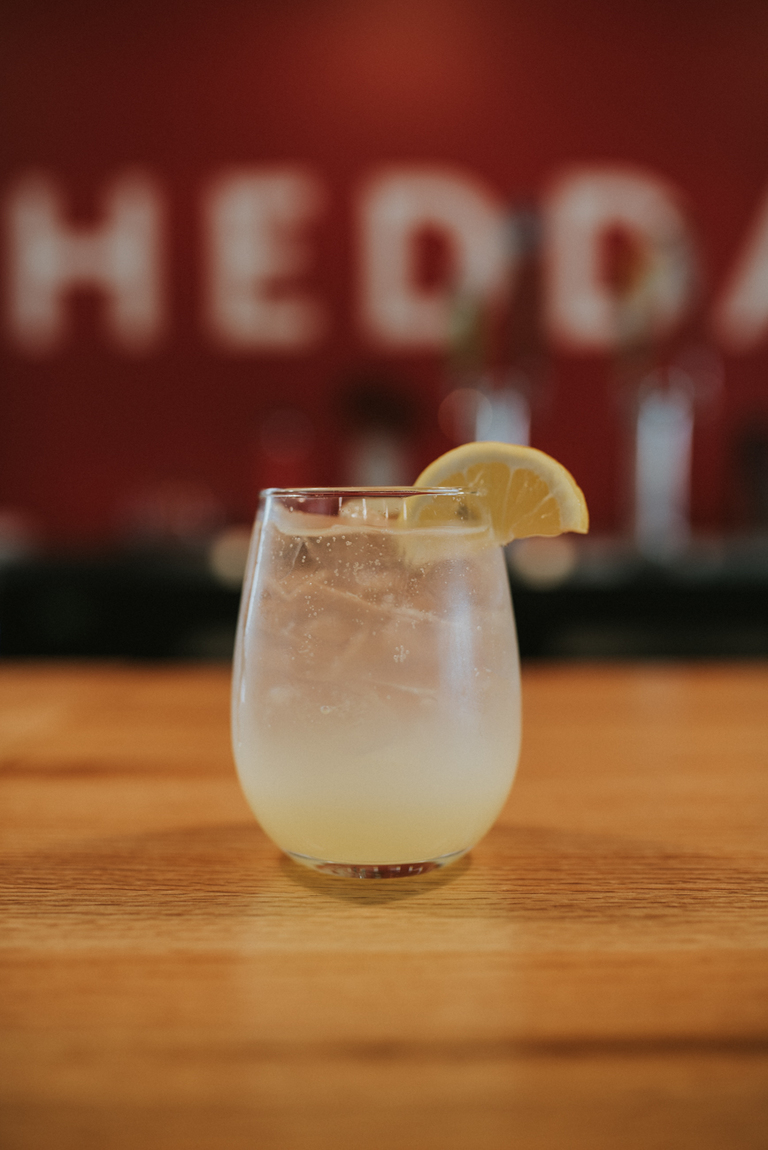 The Lemon Fresher made with Lemon Queen City Shrub, vodka, and soda / Image: Brianna Long // Published: 4.11.18<p></p>