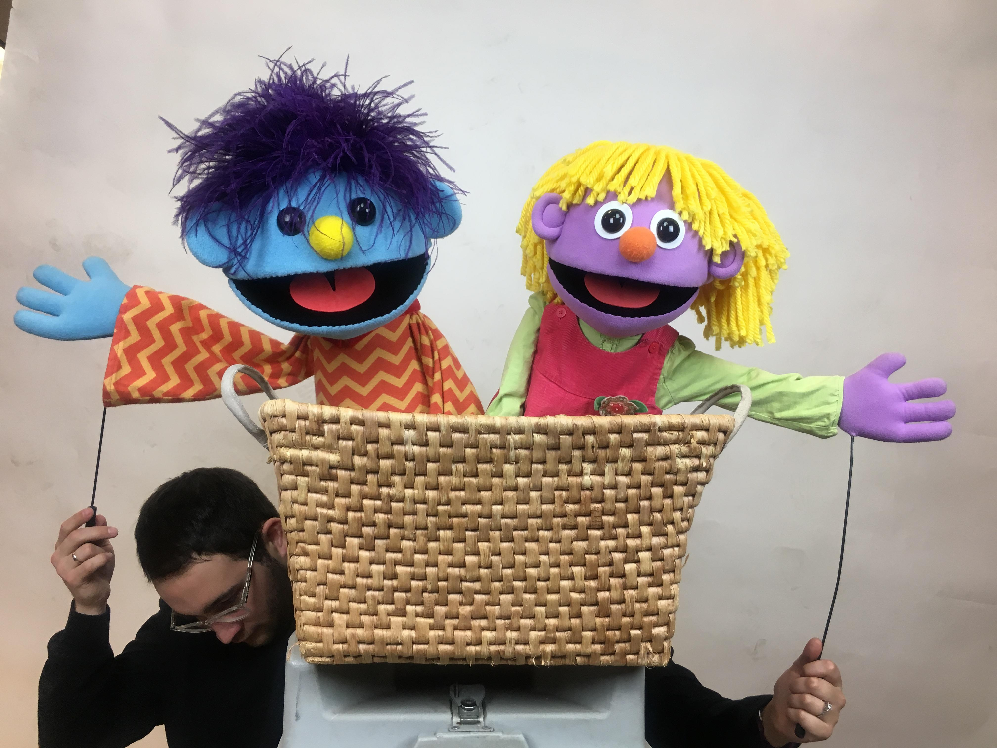 Two of the hundreds of puppets in the Madcap roster / Image courtesy of Madcap // Published: 1.26.19