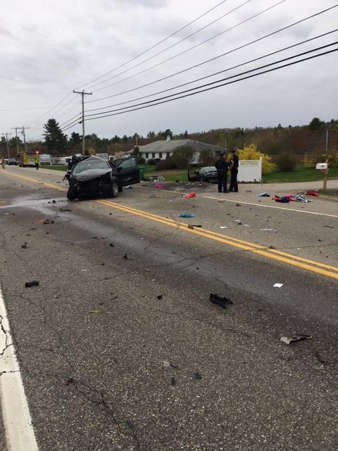 Officials responded to the area of 184 Farmington Road around 7:35 a.m. for a 3-vehicle crash. (Rochester Police Department)