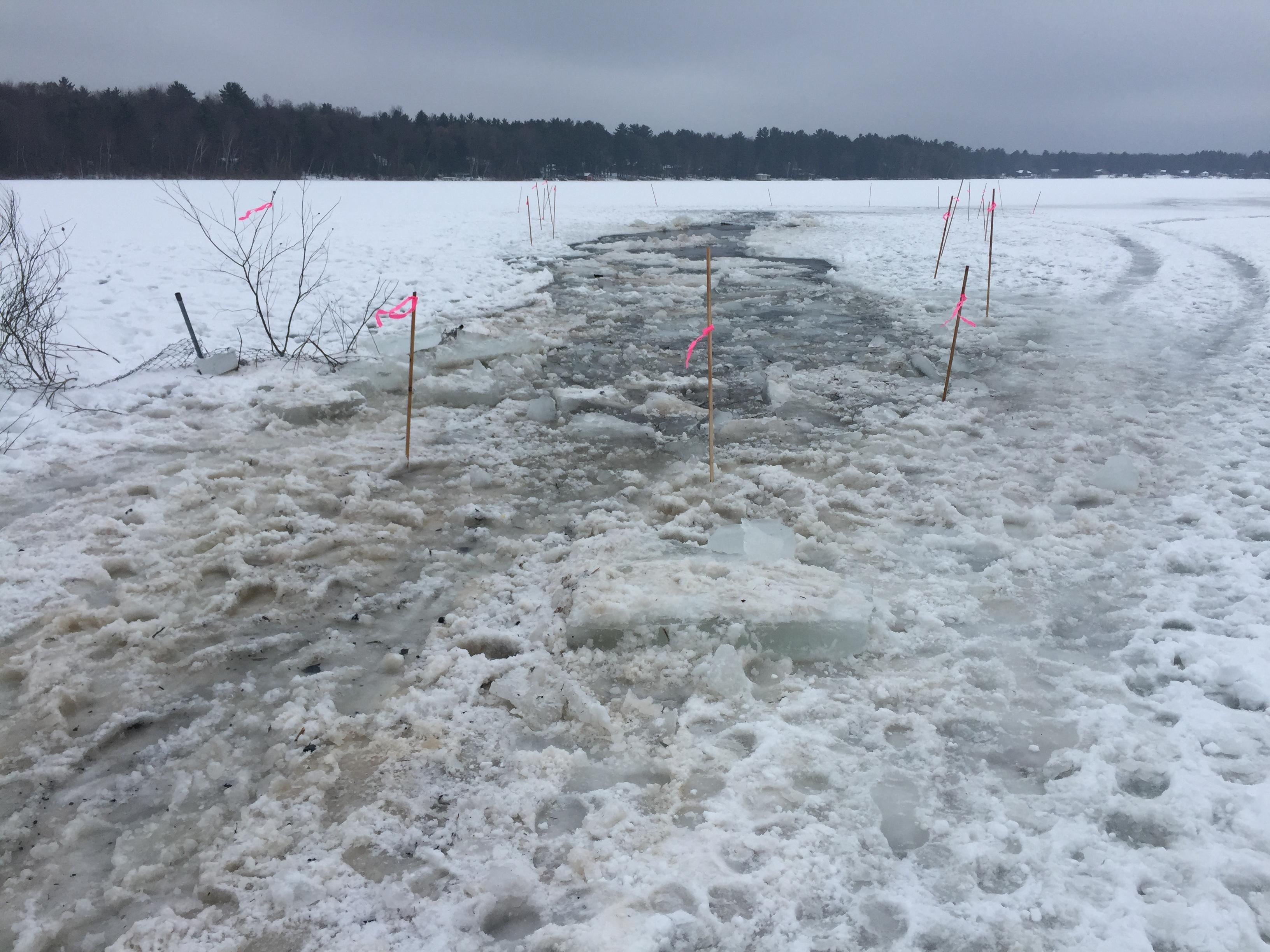Berry Lake in Oconto County, December 18, 2018 (WLUK/Eric Peterson)