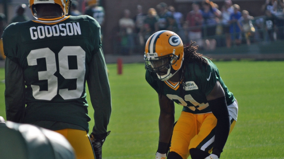 Packers safety Ha Ha Clinton-Dix goes through a drill at training camp Wednesday. (Mary Weider/WLUK)