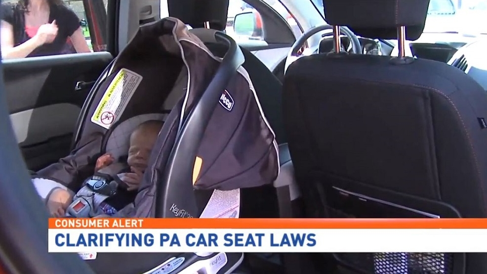 A New Pennsylvania Law Requires Children Under Age 2 To Be Strapped Into Rear Facing Child Safety Seat In The Back
