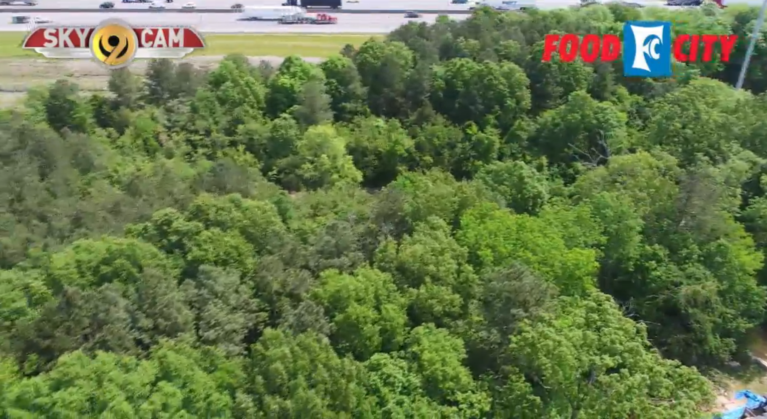This is the property where the stadium will be built, shown by our SkyCam.{ }