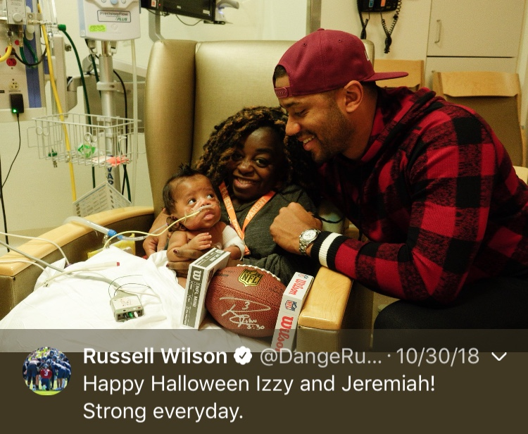 That one time Russ melted our hearts...Happy 30th birthday, Russell! (Image: @dangerusswilson / twitter.com/dangerusswilson)