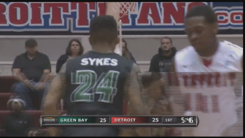 Keifer Sykes gets back on defense after making a jump shot against Detroit.
