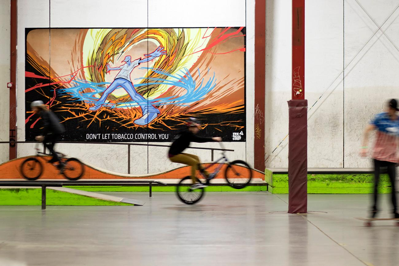 Ollie's Skatepark is a massive, 50,000-square-foot indoor venue for skateboarding, rollerblading, and biking. Over the weekend (Feb. 2-3, 2018), they held a professional skate event, which included live music, art, and, lots of skateboarding halfpipe tricks. ADDRESS: 8171 Dixie Highway, Florence KY (41042) / Image: Allison McAdams // Published: 2.4.18