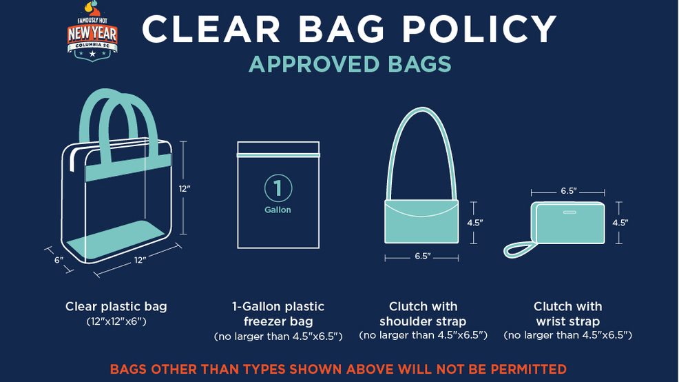 Mandatory clear bag policy for Famously Hot New Year bash