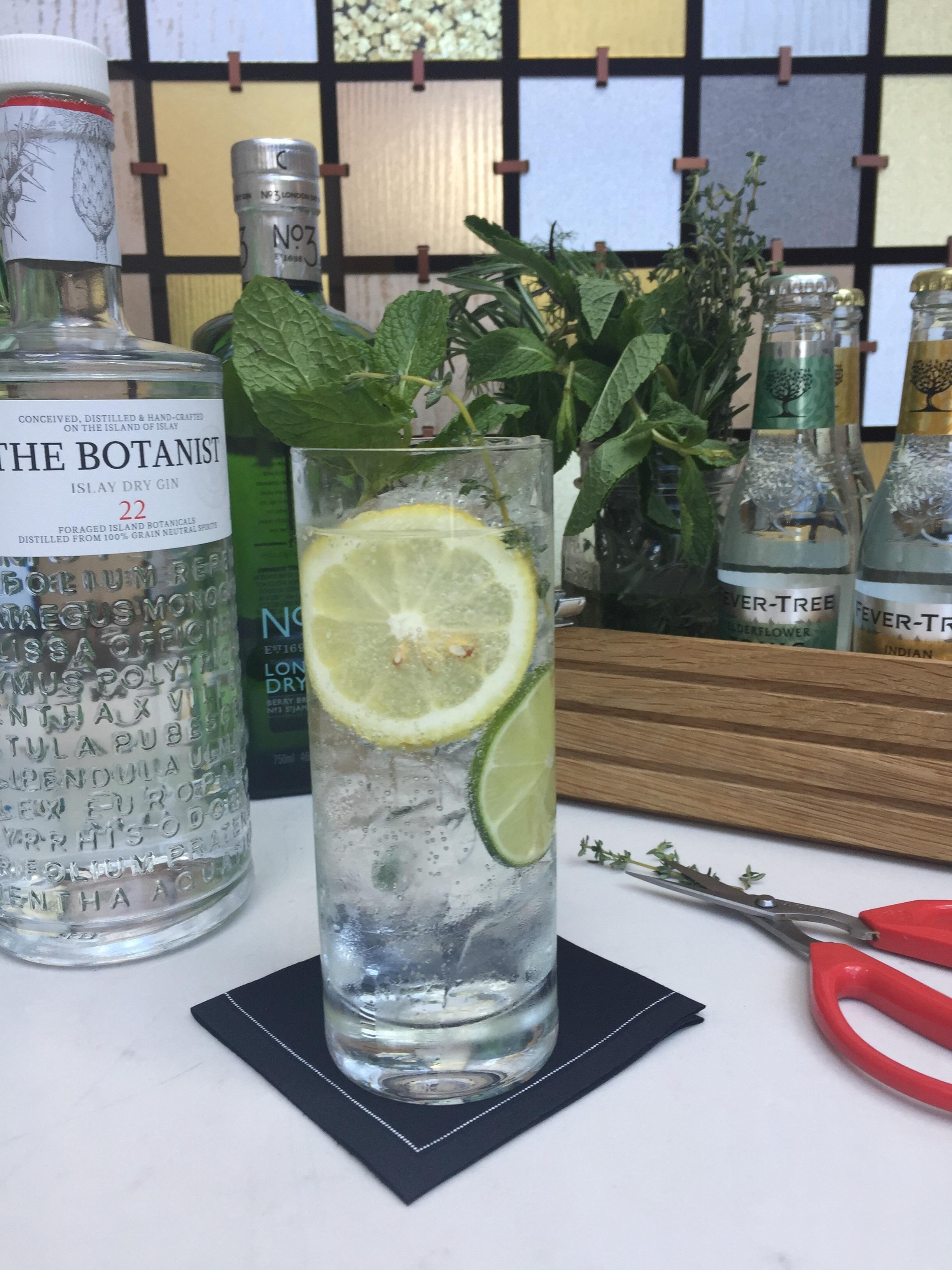 Juniper Restaurant{ } offers a DIY G&T. (Image: Courtesy Juniper)