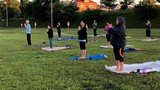 Dozens start morning with Yoga by the River in Charleston