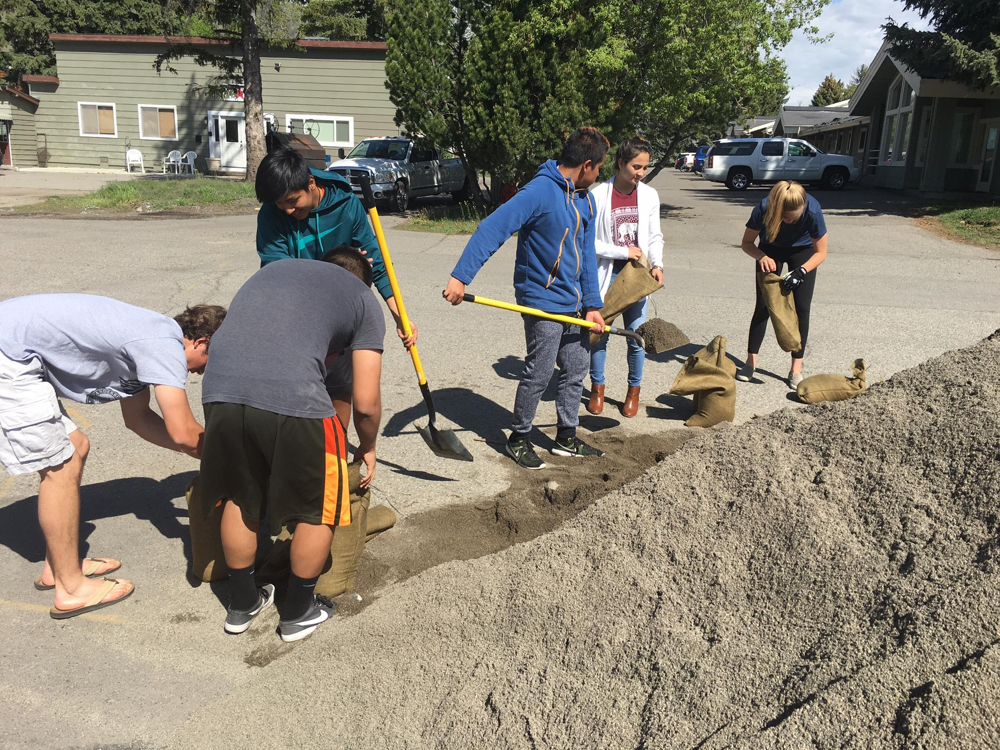 Folks in Hailey, Idaho are hard at work filling sandbags and prepping for the rising floodwaters. Ground water is rising which isn't helping the flooding.